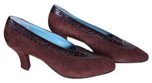 Thierry Rabotin Maroon Suede Pumps