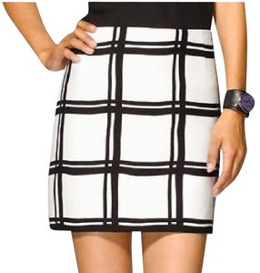 Tibi Skirt White and Black