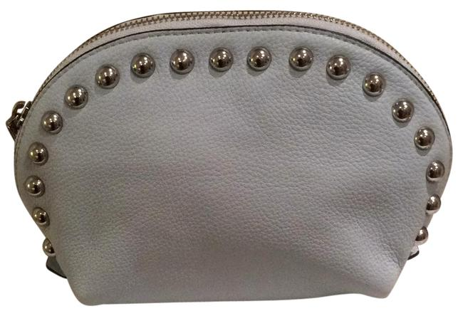 Item - Dome Pouch Cosmetic Bleached Blue Buttery Soft Leather Wristlet