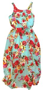 Forever 21 short dress Blue Floral on Tradesy