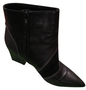 Charles by Charles David Black Leather-Kidsuede Boots
