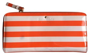 Kate Spade arrison Street Lacey Orange and White Striped Zip