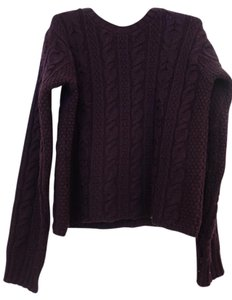 Inis Crafts Made In Ireland Merino Wool Wool Wide Cableknit Sweater
