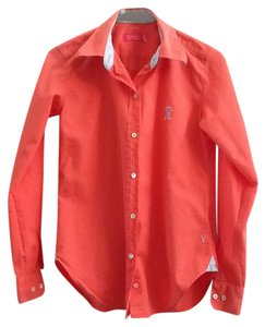 Vicomte Longsleeves Button Down Shirt Coral