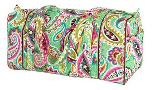 Vera Bradley Duffel Travel Quilted Large Green Travel Bag