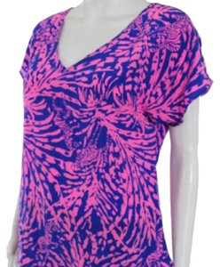 Lilly Pulitzer Classy Blue Top Pink