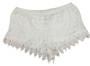 H&M Lace Shorts White
