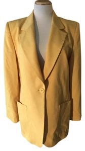 Dior Vintage Yellow Jacket Lined Mustard Yellow Blazer