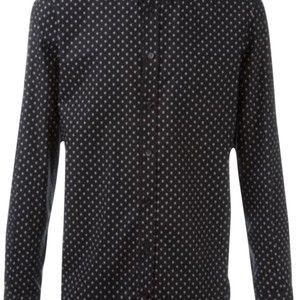 Alexander McQueen Button Down Shirt Black with White Skulls