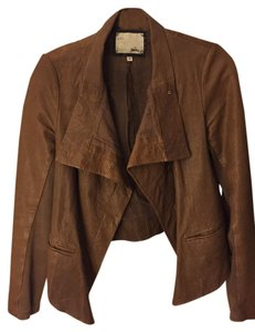 Michael Stars Leather Small Camel Leather Jacket