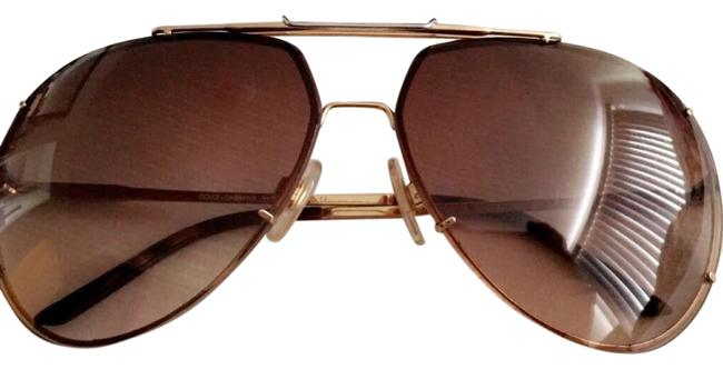 Dolce&Gabbana Brown and Gold Trendy Sporty Sunglasses Dolce&Gabbana Brown and Gold Trendy Sporty Sunglasses Image 1