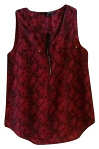 Harvé Benard Top burgundy & black