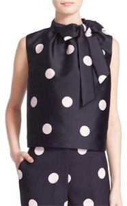 Kate Spade Bow Polka Dot Classic Top Black