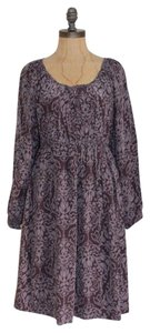 Joie short dress MOTIF PURPLE GRAY Empire Waist Longsleeve on Tradesy