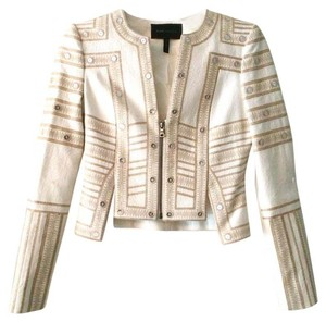 BCBGMAXAZRIA Bcbg Embroidered Off White Jacket
