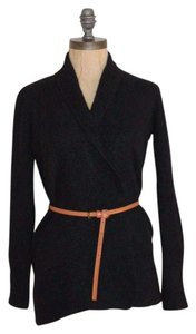 Charter Club Shawl Neck Cashmere Solid Open Front Cardigan