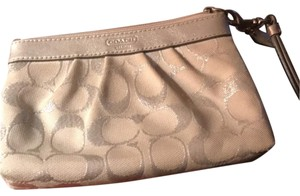 Coach Wristlet in White and silver