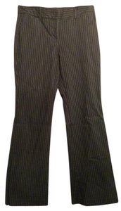 Express Editor Dress Pinstripes Boot Cut Pants Black
