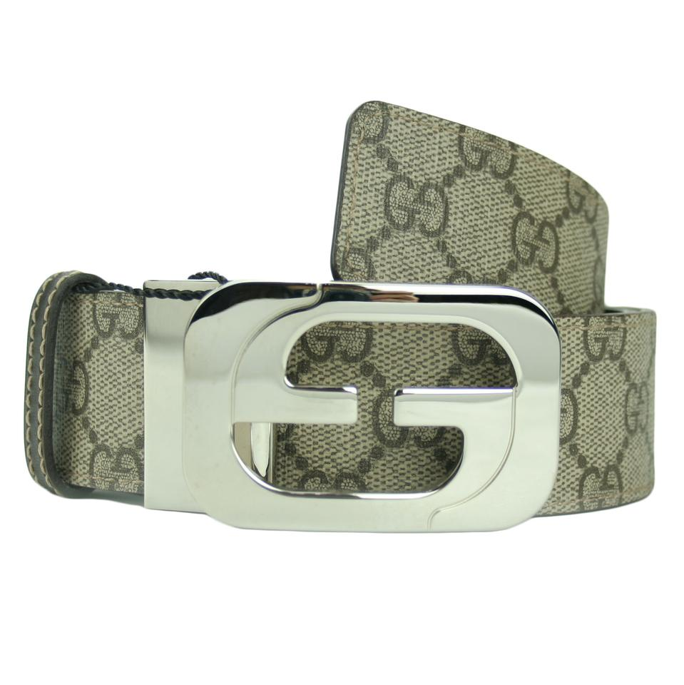 d41d3c353dc Gucci GUCCI 245861 Men s GG Supreme Reversible Belt w  Interlocking G Buckle  Image 0 ...
