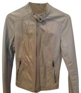 Express grey Leather Jacket