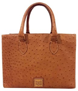 Dooney & Bourke Ostrich Leather Chic Tote in Tan