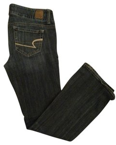 American Eagle Outfitters Artist Dark Wash Flare Leg Jeans-Dark Rinse