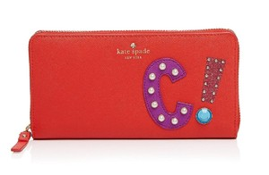 Kate Spade Kate Spade Hartley Lane Lacey Letter Wallet , Apple Jelly Red