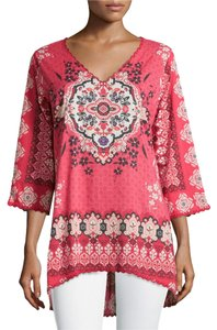 9ed3062e63f Johnny Was Pink Multi Aurora Printed High-low Tunic Size 12 (L ...