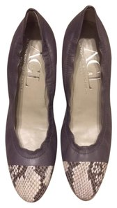Attilio Giusti Leombruni Snakeskin Leather Two-tone Italian Grey/Snakeskin Wedges