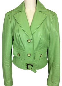 Cache green Leather Jacket