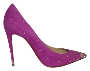 Christian Louboutin Degrastrass Strass Stiletto Strassed Indian Rose Pumps