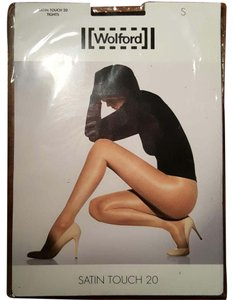 Wolford Wolford Nearly BLACK satin touch 20 tights Size S
