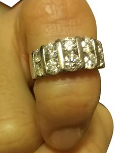 Other Platinum,Round,Diamond,Channel,Set,Eternity,Band,Ring,2.14ct.vsvs,Sz,5