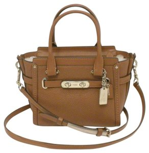 Coach 37444 21 Saddle Leather 37444 Crossbody Satchel in saddle/silver