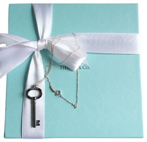 Tiffany & Co. Tiffany & Co. TItanium Key Pendant with Sterling Silver Necklace
