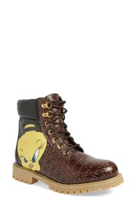 Moschino Casual Print Party Skater Brown Boots
