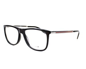 Gucci NEW Gucci GG 1137 Black Flat Top Logo Metal Leg Eyeglasses Frames