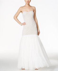 Adrianna Papell Beaded Strapless Mermaid Gown Wedding Dress
