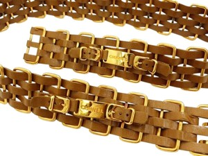 Chanel 5 Layer Interlaced Chain Belt 214583