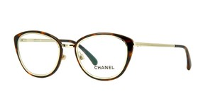 Chanel NEW Chanel 2172 Brown Metal Cat Eye Eyeglasses Frames