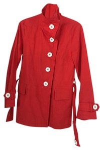 Toast England Asymmetrical Button-up Fabric Belt Raincoat