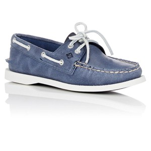 Sperry Washed Blue Flats