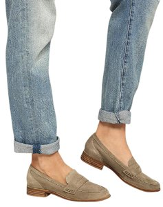 Seychelles Tigers Eye Suede Loafers Sand Flats