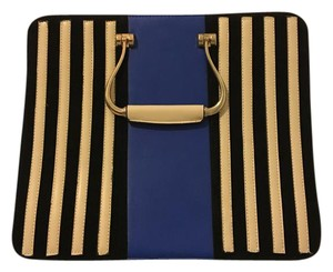Other Striped Faux Handbag Tote in Blue