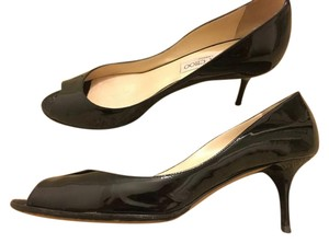 Jimmy Choo Patent Leather Patent Isabel Black Pumps