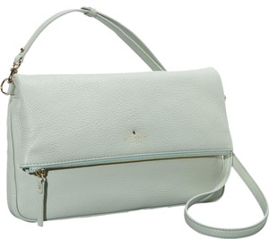 Kate Spade Cobble Hill Clarke Flap Crossbody Pebbled Leather Spanish Moss Messenger Bag