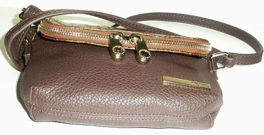Kenneth Cole Reaction Foldover Faux Leather Croco Embossed Gold Tone Hardwarem Cross Body Bag Image 4