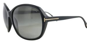 Tom Ford Sheila TF186-01B New-With-Case-Cloth Black Gold Tom Ford Sunglasses