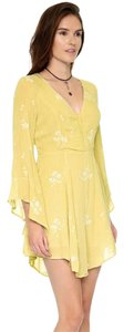Free People short dress mustard on Tradesy
