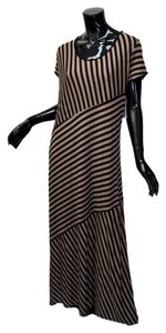 Brown and Black Maxi Dress by GNW Size Xl Striped Maxi Tall Size Striped Chapeaunoir